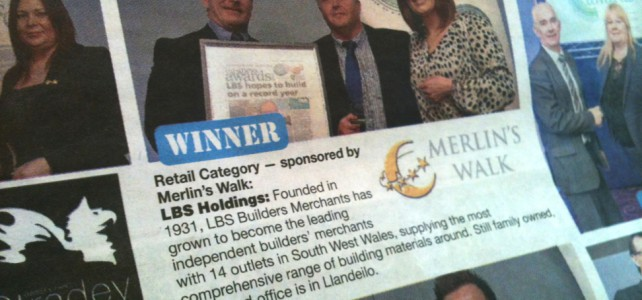 Success for LBS at the Carmarthen Journal and Llanelli Star Business awards!