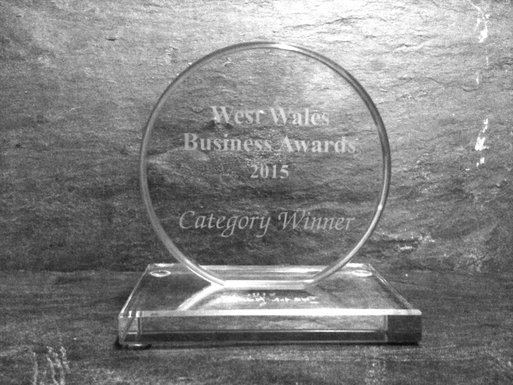 West Wales Business Award trophy