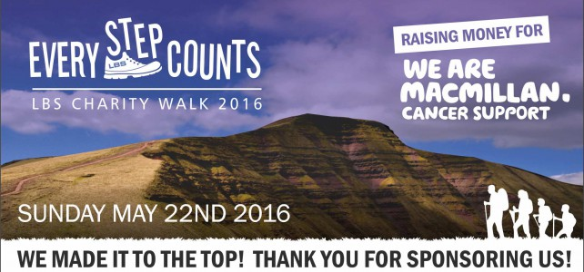 Every Step Counts – LBS Charity Walk 2016