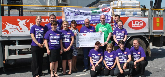 Charity Walk cheque presentation to Macmillan
